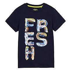bluezoo - Boys' navy 'Fresh' print t-shirt
