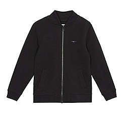 bluezoo - Boys' black slub bomber jacket