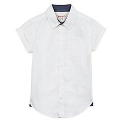 bluezoo - Boys' white linen blend shirt