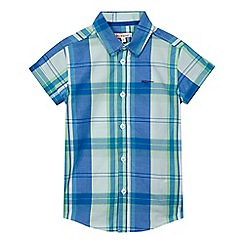 bluezoo - Boys' blue and green checked shirt