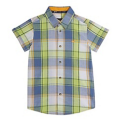 Mantaray - Boys' green and blue checked shirt