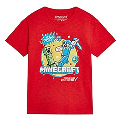 Minecraft - Boys' red 'Minecraft' print T-shirt