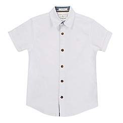 J by Jasper Conran - Boys' white stretch Oxford shirt