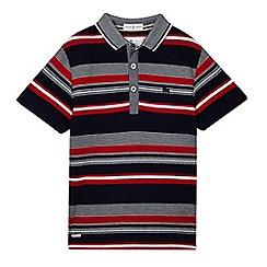 J by Jasper Conran - Boys' navy textured polo shirt