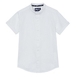 Mantaray - Boys' white textured granddad shirt