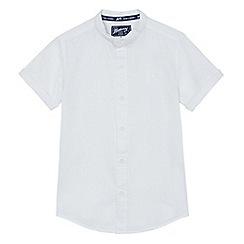 Mantaray - Boys' white textured granddad shirt
