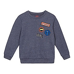bluezoo - Boys' blue badge applique sweat