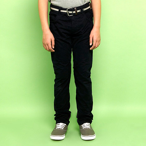 J by Jasper Conran - Designer boy+s navy twisted seam chinos