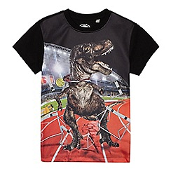 bluezoo - Boys' black dinosaur print t-shirt