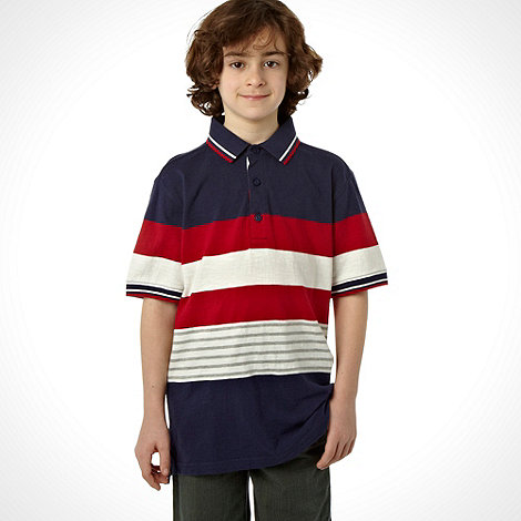 J by Jasper Conran - Designer boy+s multi striped polo top