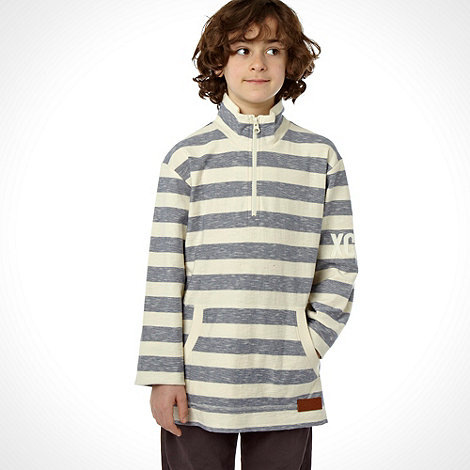 J by Jasper Conran - Designer boy+s blue long sleeved hooded top