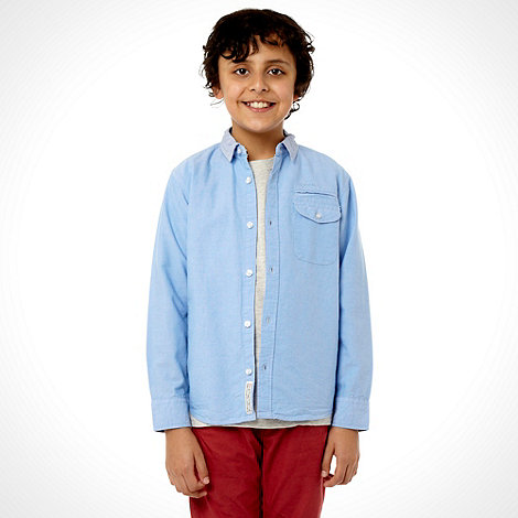 J by Jasper Conran - Designer boy+s blue oxford shirt with t-shirt