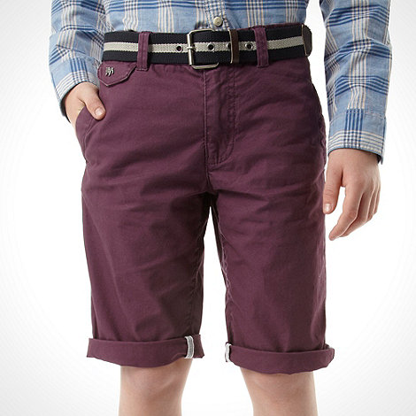 J by Jasper Conran - Designer boy+s purple belted chinos