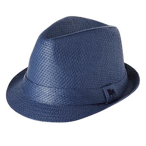 J by Jasper Conran - Designer boy+s navy woven trilby hat
