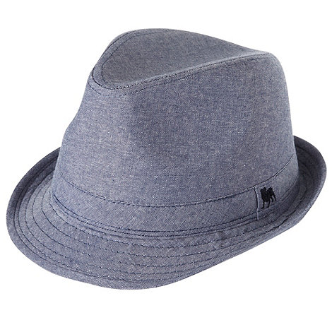 J by Jasper Conran - Designer boy+s blue chambray trilby hat