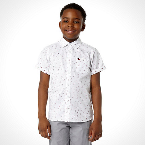 J by Jasper Conran - Boy+s white bird print shirt