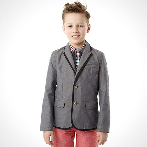 J by Jasper Conran - Designer boy+s navy chambray blazer