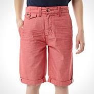 Designer boy's dark pink oxford shorts