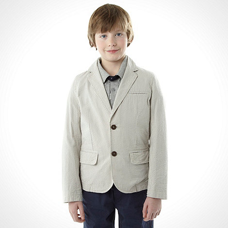 J by Jasper Conran - Boy+s grey seersucker blazer