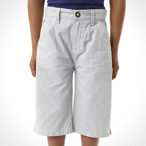 J by Jasper Conran - Designer boy+s navy fine striped shorts