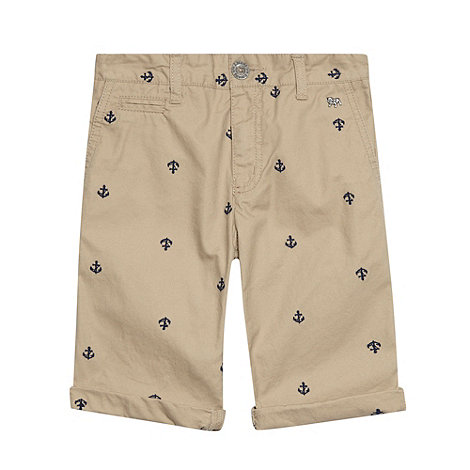 J by Jasper Conran - Designer boy+s natural anchor embroidered shorts
