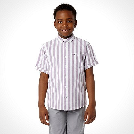 J by Jasper Conran - Boy+s pink deck shair striped shirt