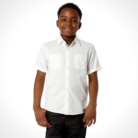 J by Jasper Conran - Designer boy+s white linen shirt