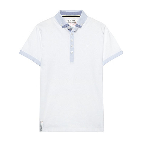 J by Jasper Conran - Designer boy+s white double collar polo top
