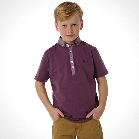 J by Jasper Conran - Designer boy+s purple double collar polo top