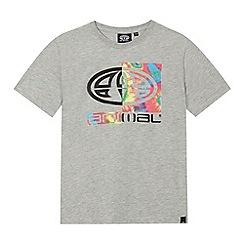Animal - Boys' grey logo print t-shirt