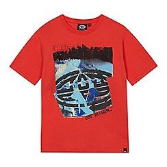 Animal - Boys' red logo print t-shirt