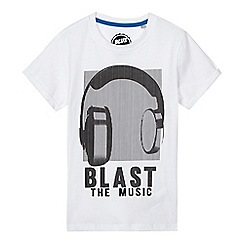 bluezoo - Boys' white headphones print t-shirt