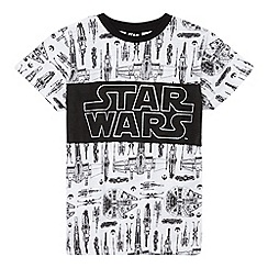 Star Wars - Boys' white 'Star Wars' print t-shirt