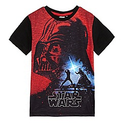 Star Wars - Boys' black and red light up 'Star Wars' t-shirt