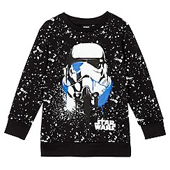 Star Wars - Boys' black 'Stormtrooper' print jumper