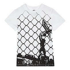 bluezoo - Boys' white basketball print t-shirt