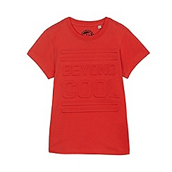bluezoo - Boys' red embossed 'Beyond Cool' t-shirt