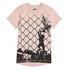 bluezoo - Boys' pink basketball print t-shirt
