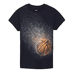 bluezoo - Boys' navy basketball print t-shirt