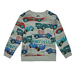 bluezoo - Boys' grey car print jumper