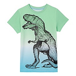 bluezoo - Boys' blue and green T-Rex print t-shirt