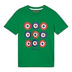 Ben Sherman - Boys' green target print t-shirt