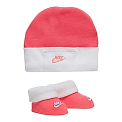 Nike - Girls' pink hat and bootie set