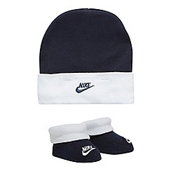 Nike - Boys' navy and white hat and bootie set