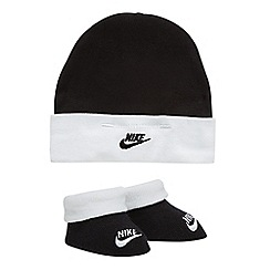 Nike - Girls' black hat and bootie set