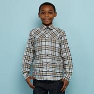 Designer boy's multi checked shirt