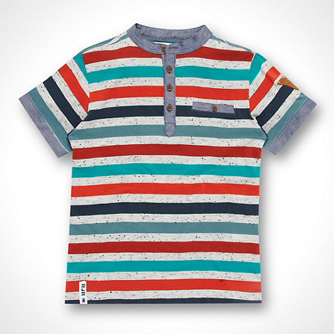 RJR.John Rocha - Designer boy+s multi striped henley t-shirt