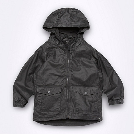 RJR.John Rocha - Designer boy+s dark green coated jacket