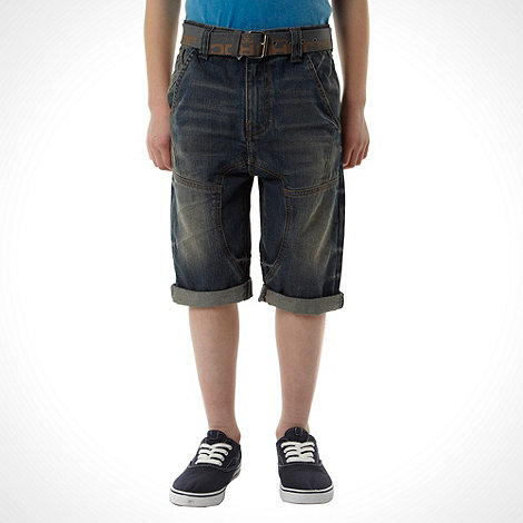 RJR.John Rocha - Boy+s blue drop crotch denim shorts
