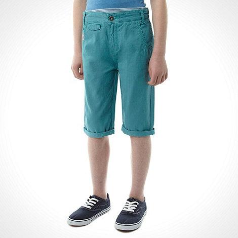 RJR.John Rocha - Boy+s bright green drop crotch shorts